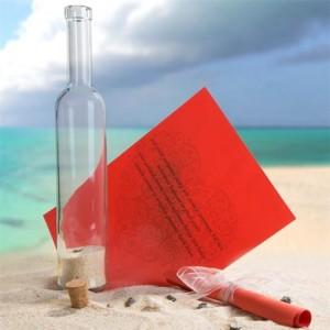 kişiye özel şişede mesaj