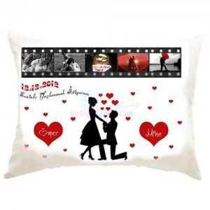 En romantik hediye film şeridi yastık