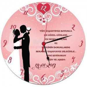 evlilik duvar saati kişiye özel