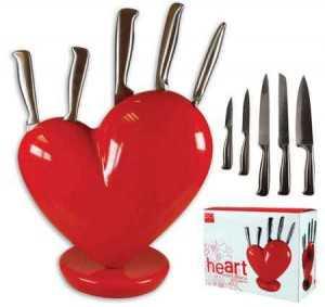 kalp tasarımlı bıçaklık