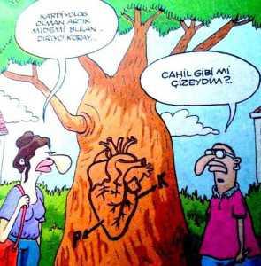 kardiyologun kalp çizimi