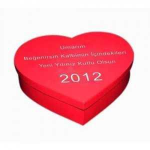 kişiye özel mesajlı kalp kutu