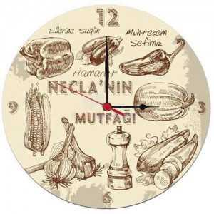kişiye özel mutfak duvar saati