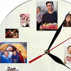sevgiliye 12 fotoğraf rakamlı duvar saati