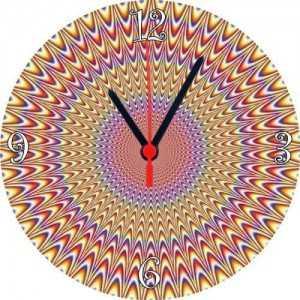 sevgiliye optik illüzyon duvar saati