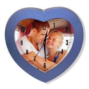 sevgiliye özel kalp şeklinde duvar saati