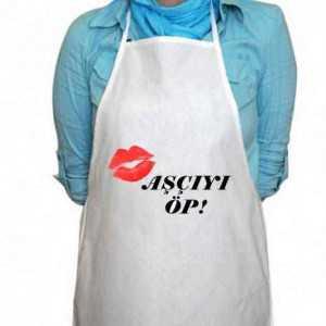 tasarım mutfak önlüğü aşçıyı öp