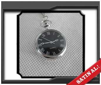 kişiye özel cep saati siyah