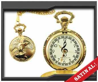 sevgiliye müzik temalı cep saati
