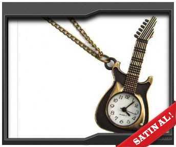 sevgiliye gitar temalı cep saati
