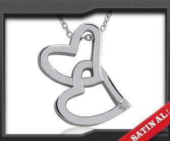 sevgiliye hediye iki kalp kolye