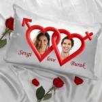 Sevgiliye Özel Kalpler Yastık